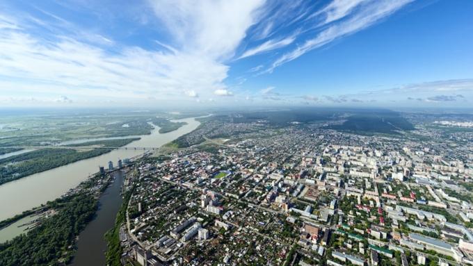 Город Барнаул на карте