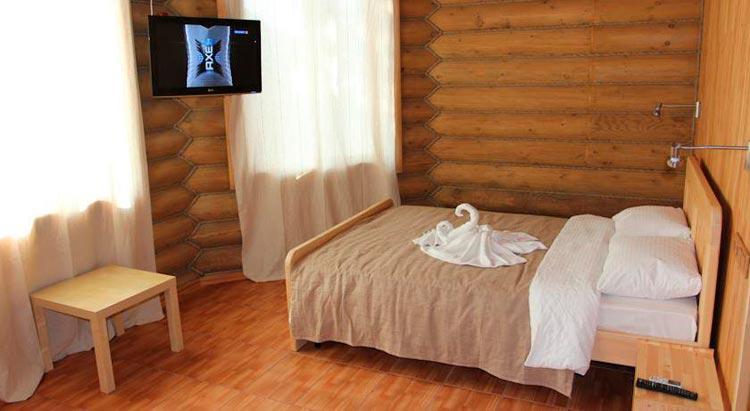 Номер в Арт-эко-отеле Алтай