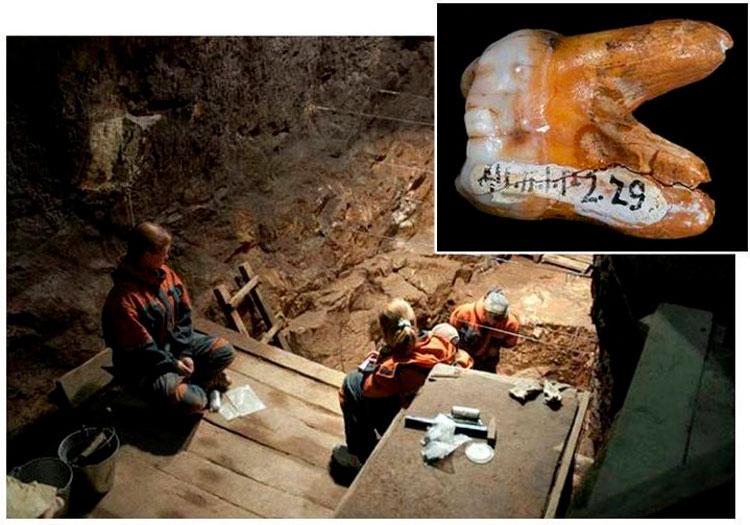 раскопки в пещере