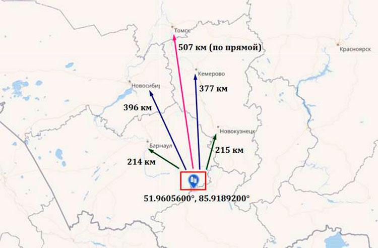 координаты горно-алтайска