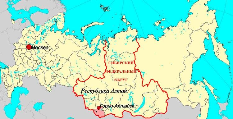 Горно-Алтайск на карте