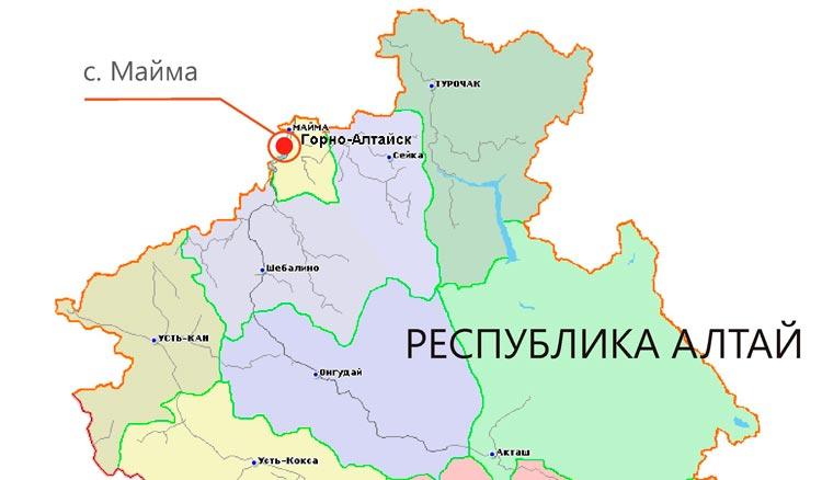 село майма на карте
