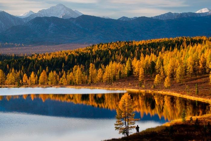 телецкое озеро осенью