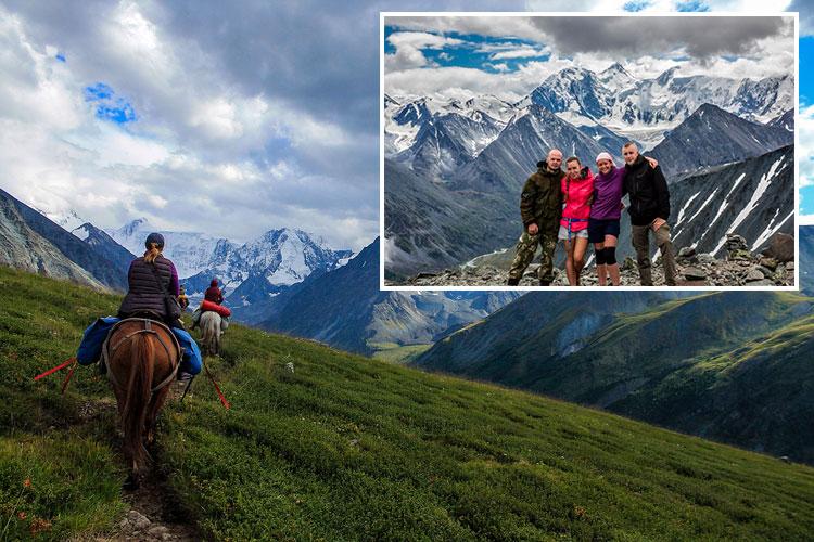 туристический поход в горы