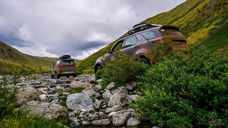 На машине на Алтай